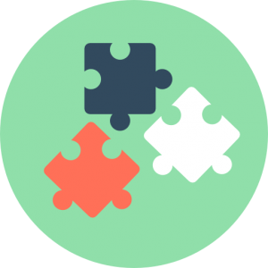 Illustration of three puzzle pieces